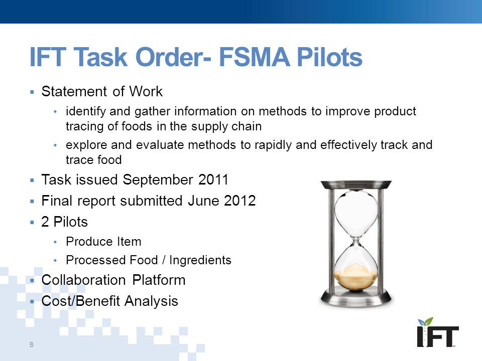 IFT Task Order- FSMA Pilots