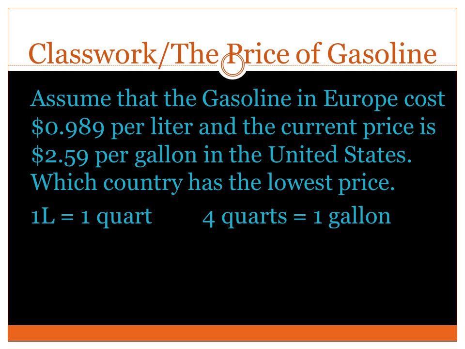 Classwork/The Price of Gasoline