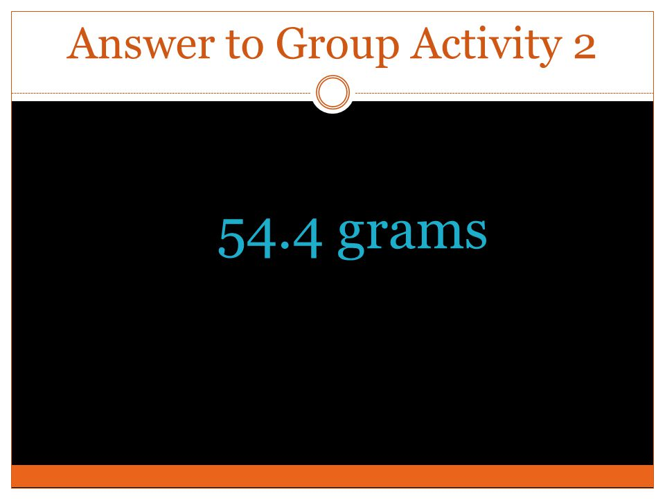 Answer to Group Activity 2