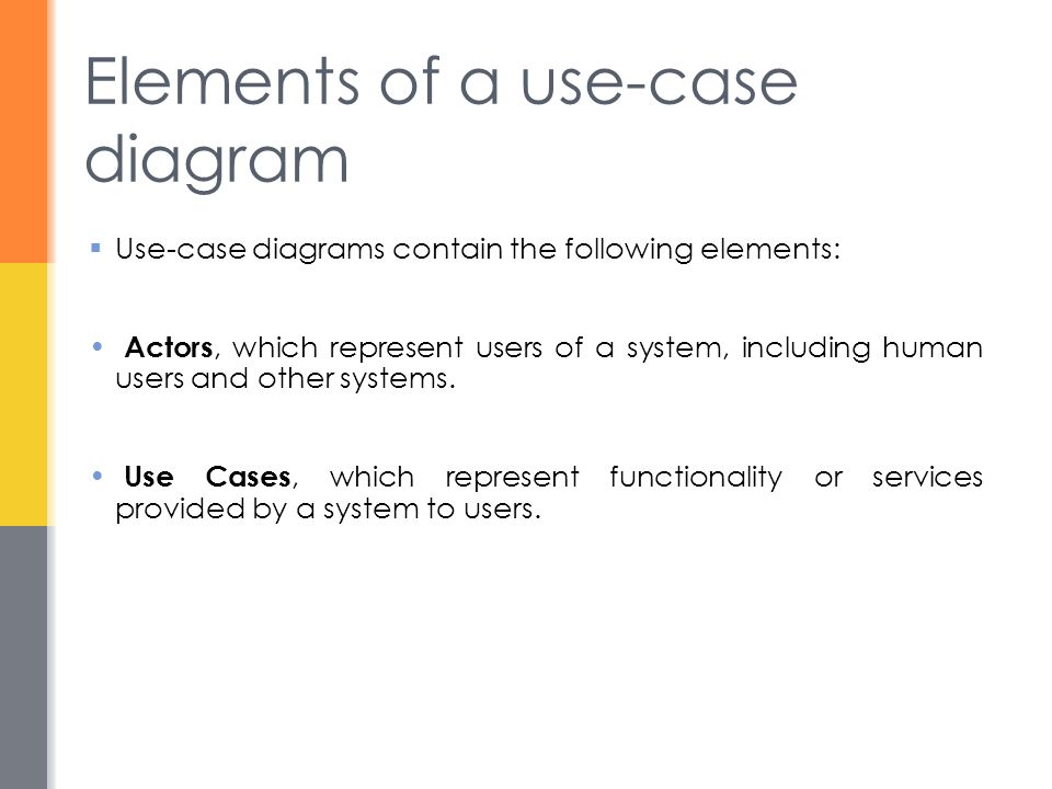 Elements of a use-case diagram