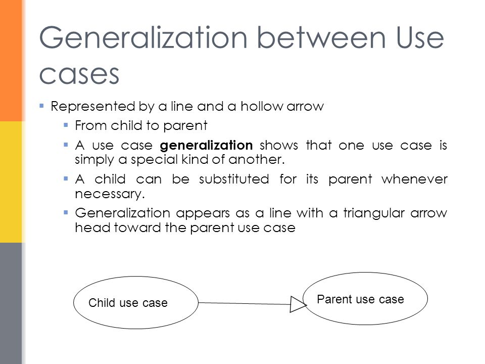 Generalization between Use cases