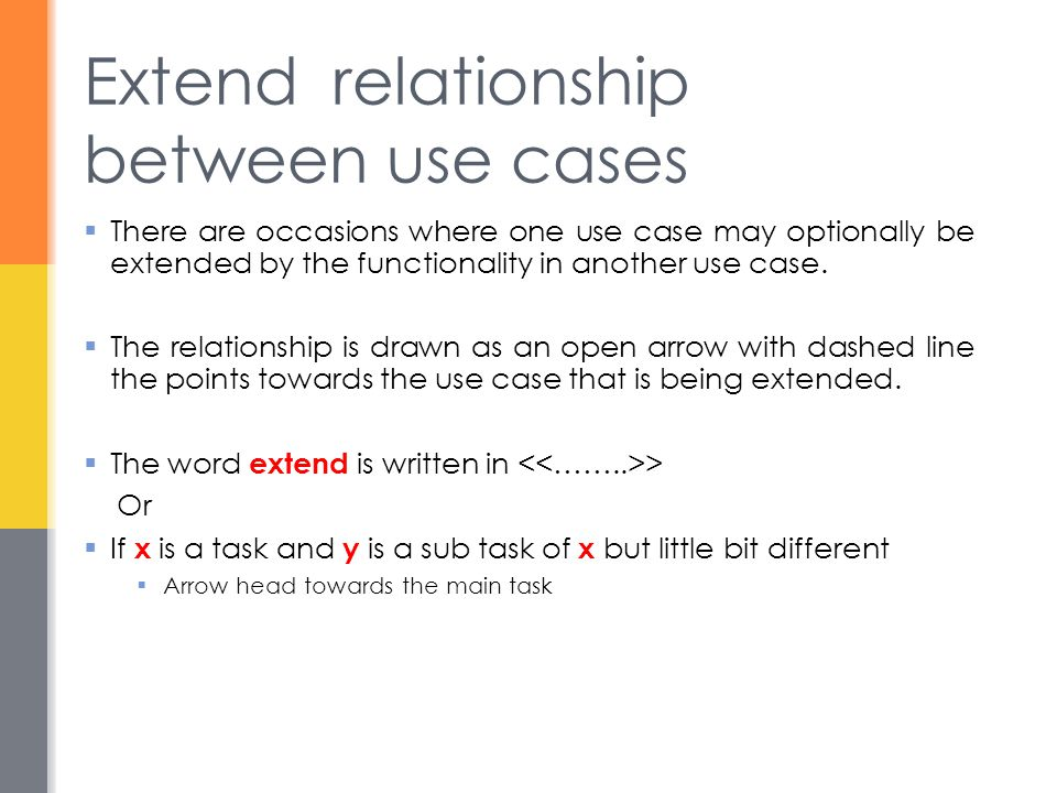 Extend relationship between use cases
