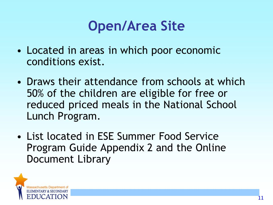 Open/Area Site Located in areas in which poor economic conditions exist.