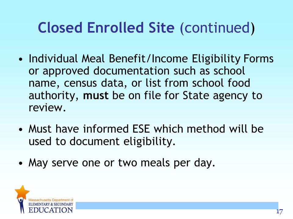 Closed Enrolled Site (continued)