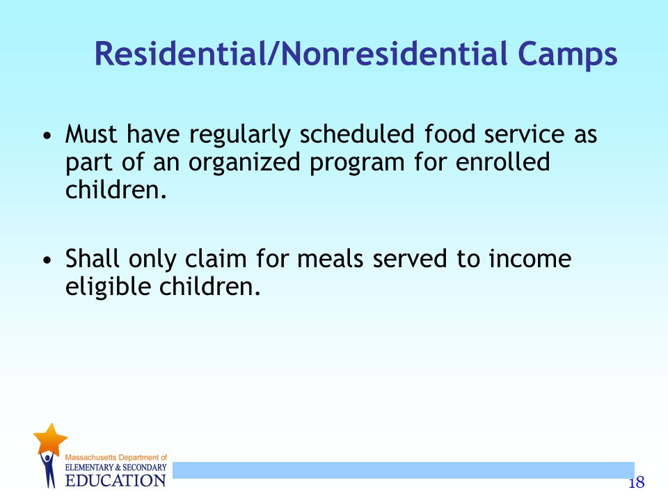 Residential/Nonresidential Camps