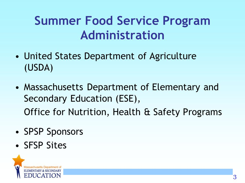 Summer Food Service Program Administration