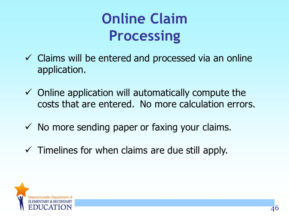 Online Claim Processing