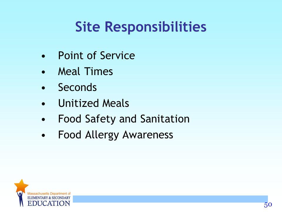 Site Responsibilities