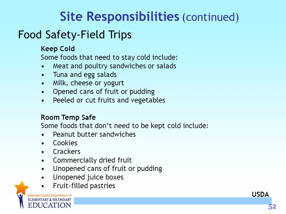 Site Responsibilities (continued)