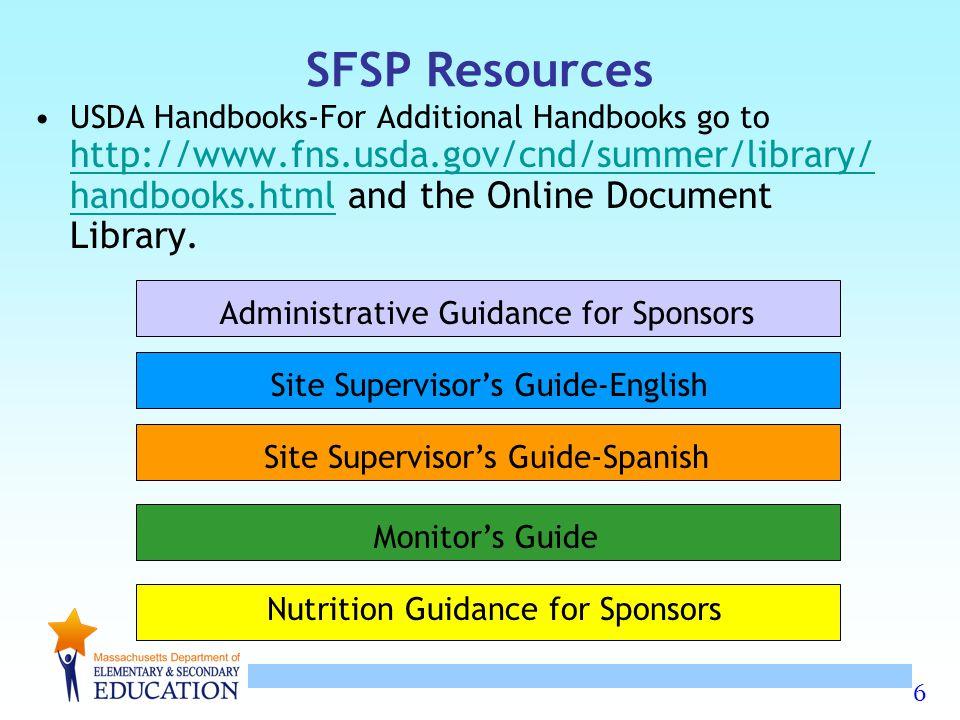 SFSP Resources