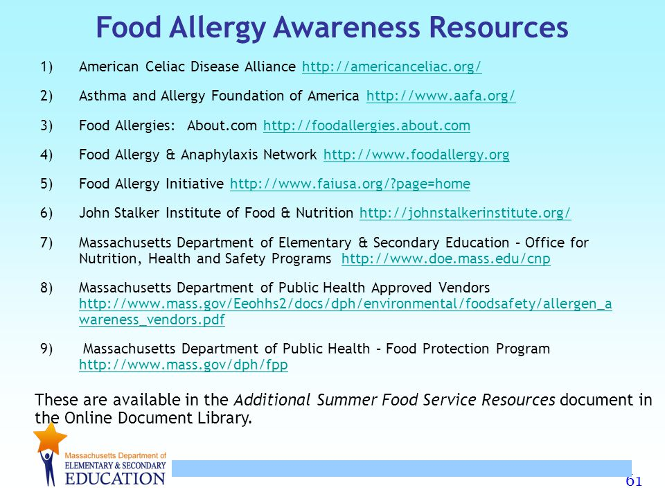 Food Allergy Awareness Resources