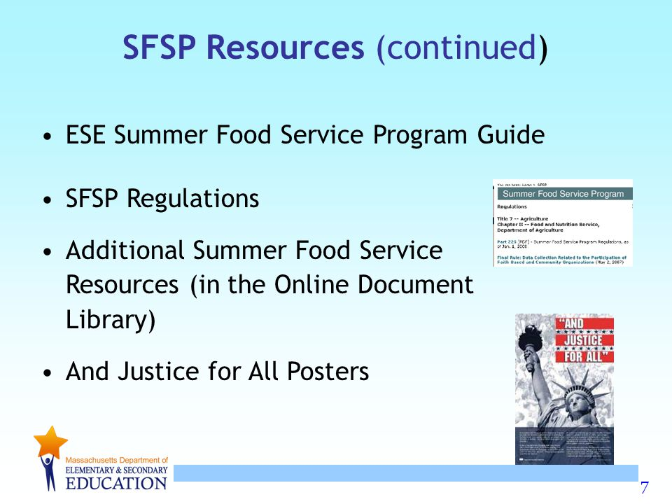 SFSP Resources (continued)