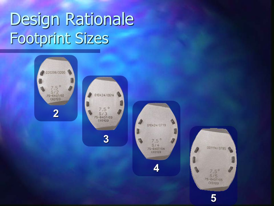 Design Rationale Footprint Sizes