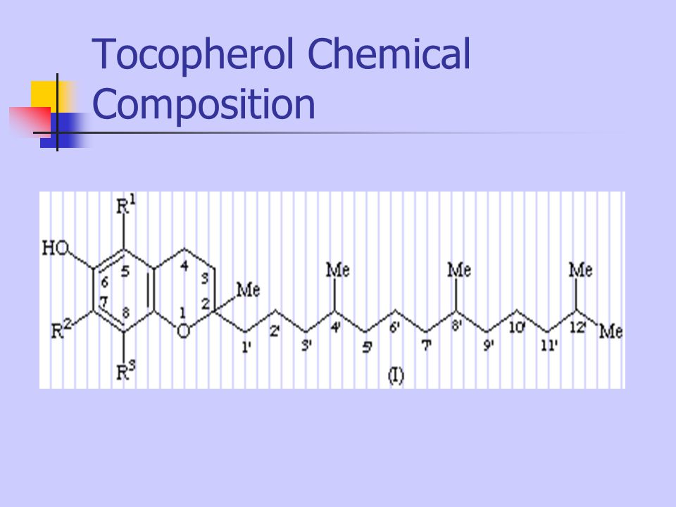 Tocopherol Chemical Composition