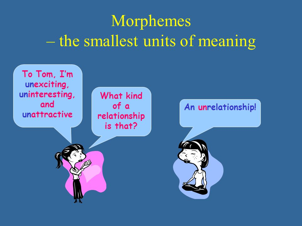 Morphemes – the smallest units of meaning