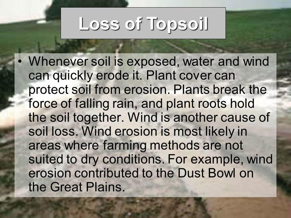 Loss of Topsoil