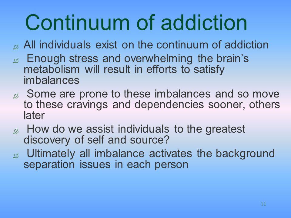 Continuum of addiction