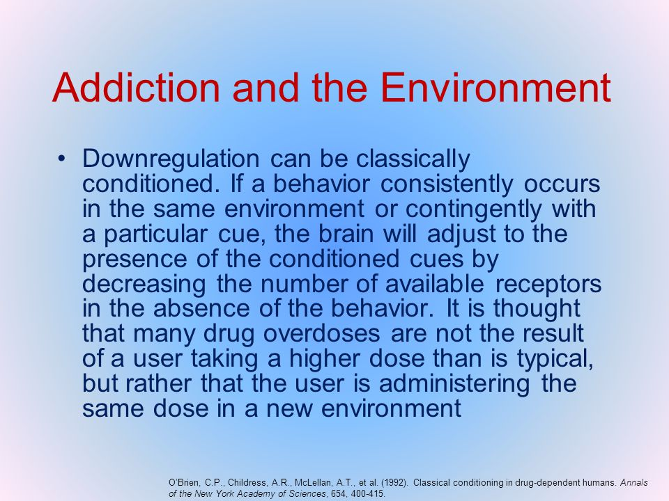 Addiction and the Environment
