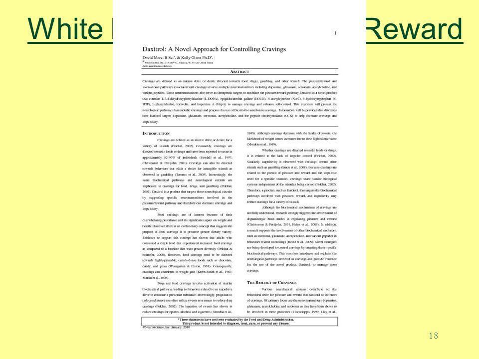 White Paper on Pleasure Reward