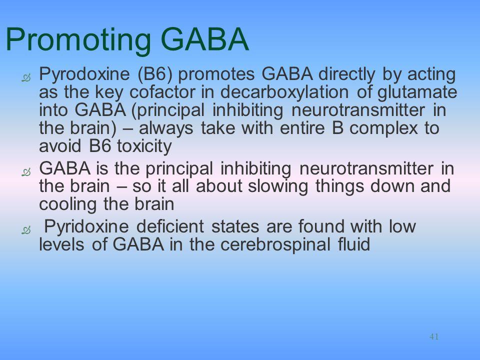 Promoting GABA