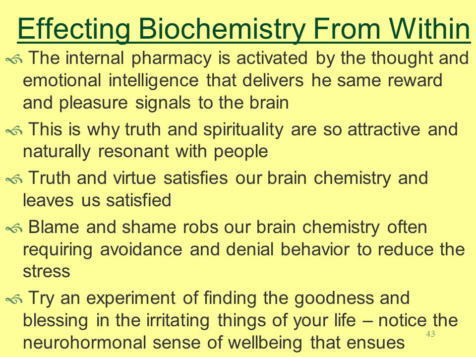 Effecting Biochemistry From Within