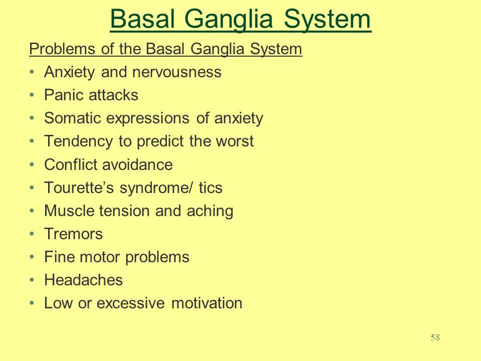 Basal Ganglia System Problems of the Basal Ganglia System
