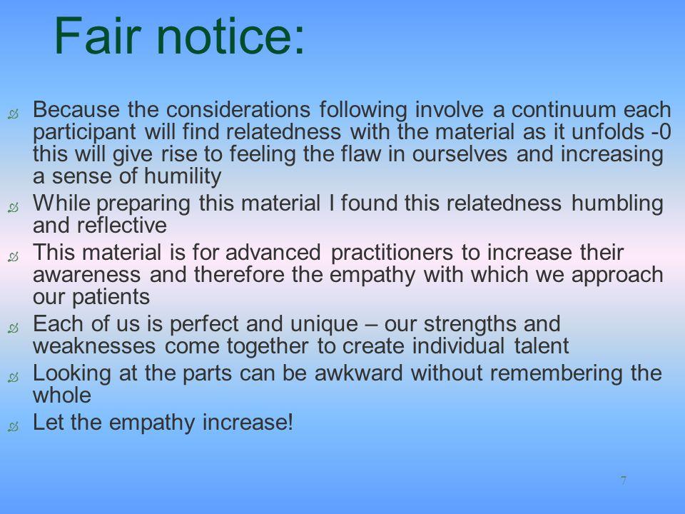 Fair notice: