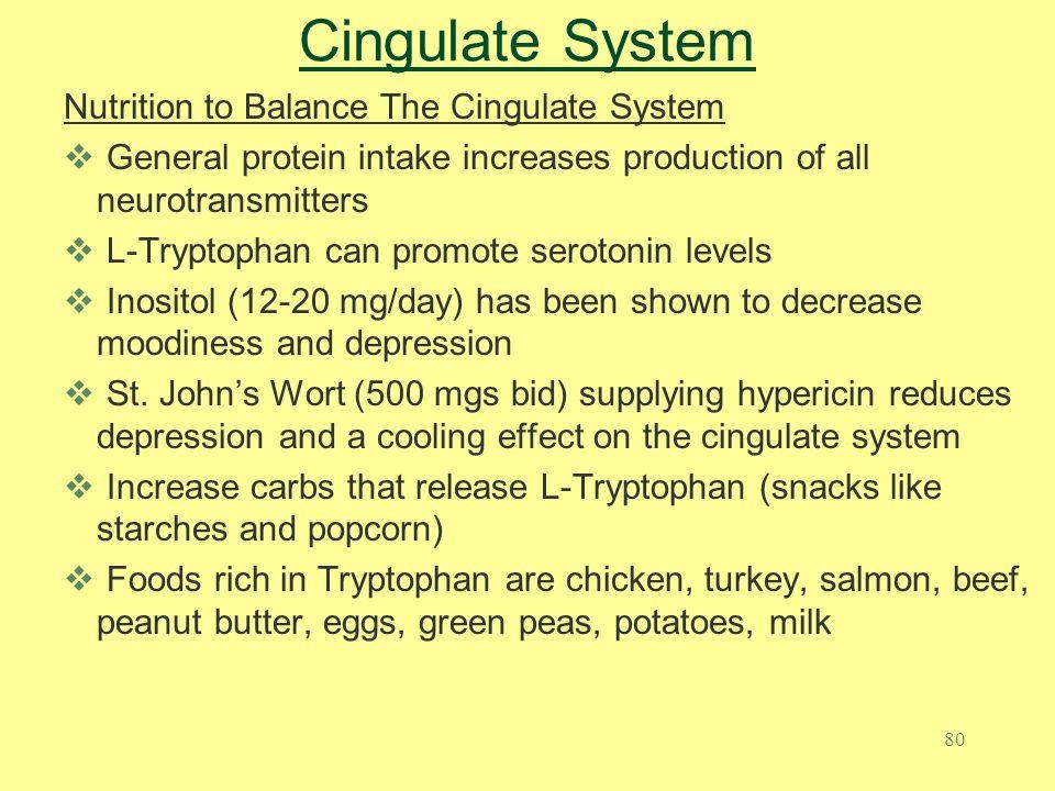 Cingulate System Nutrition to Balance The Cingulate System