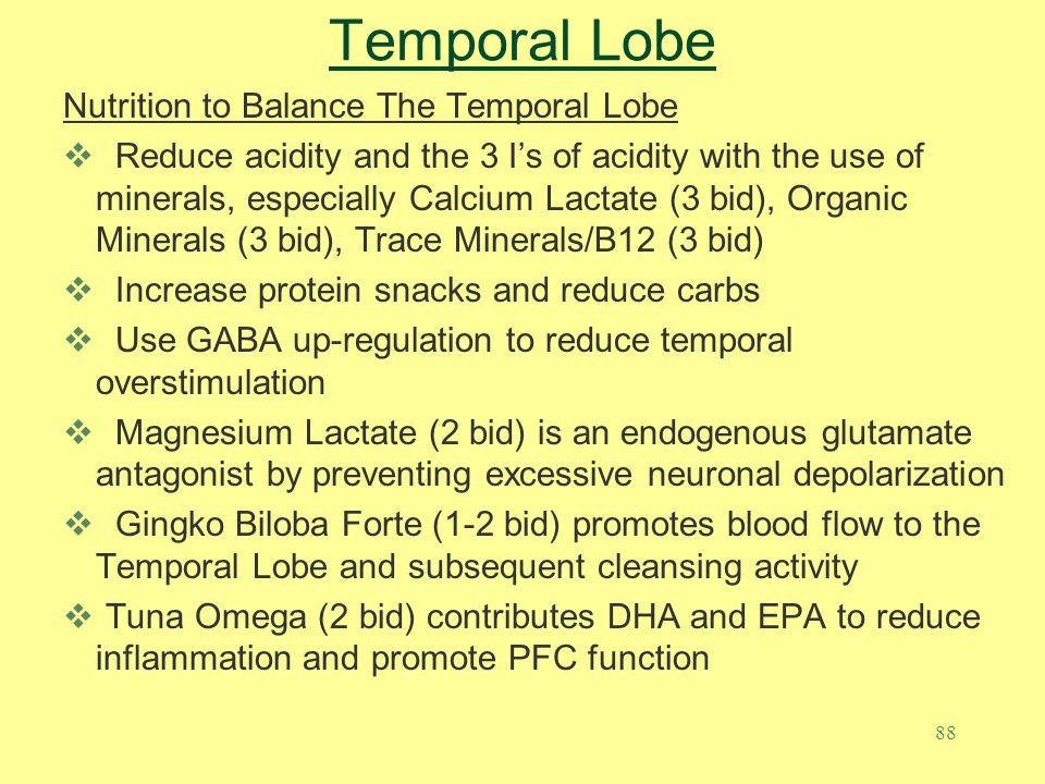 Temporal Lobe Nutrition to Balance The Temporal Lobe