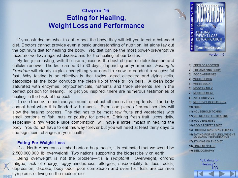 Weight Loss and Performance