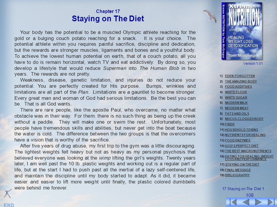 Chapter 17 Staying on The Diet.