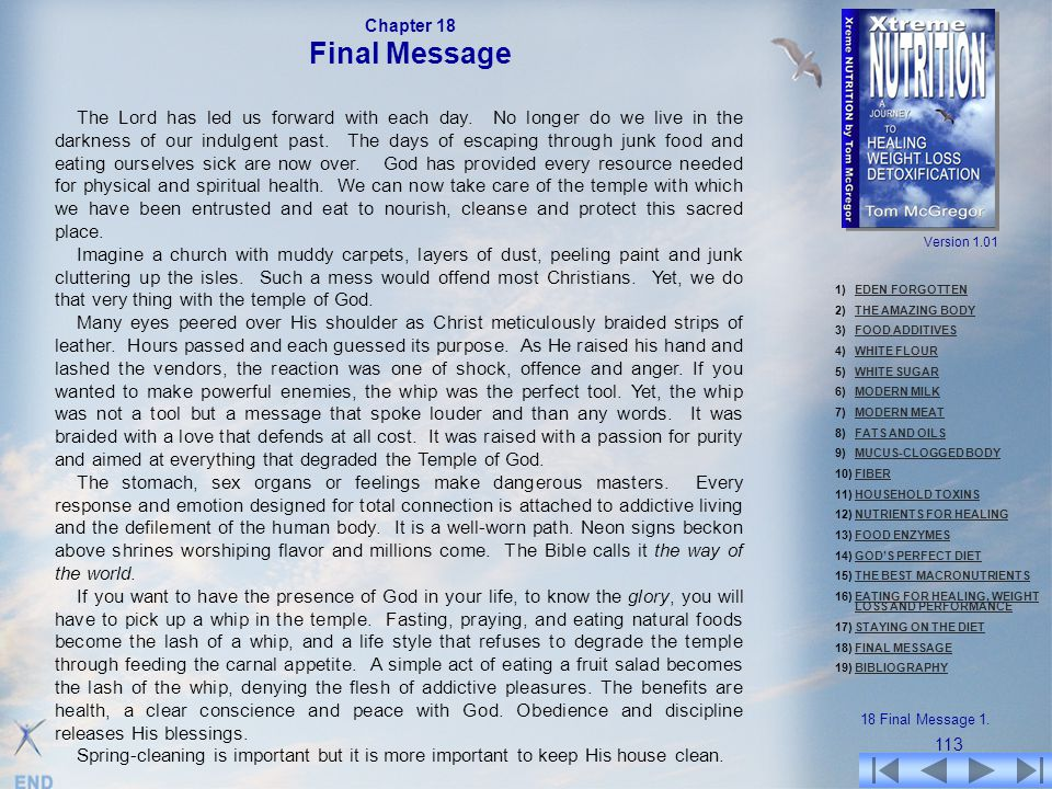 Chapter 18 Final Message.