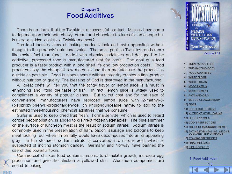 Chapter 3 Food Additives.