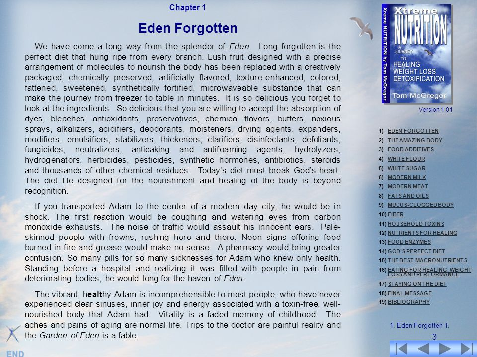 Chapter 1 Eden Forgotten.