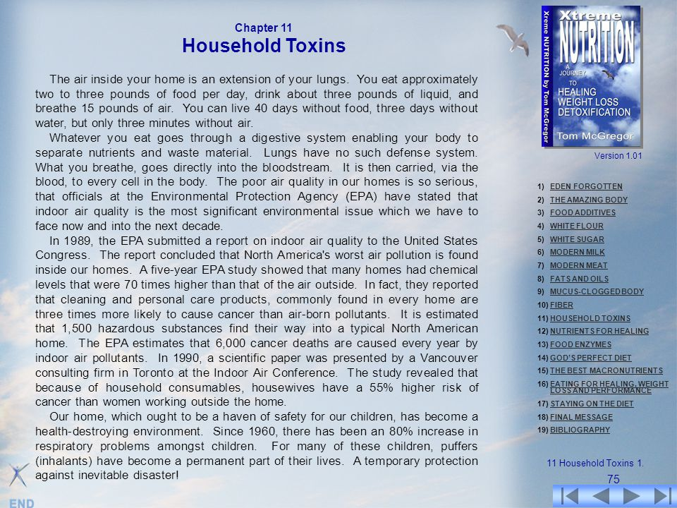 Chapter 11 Household Toxins.