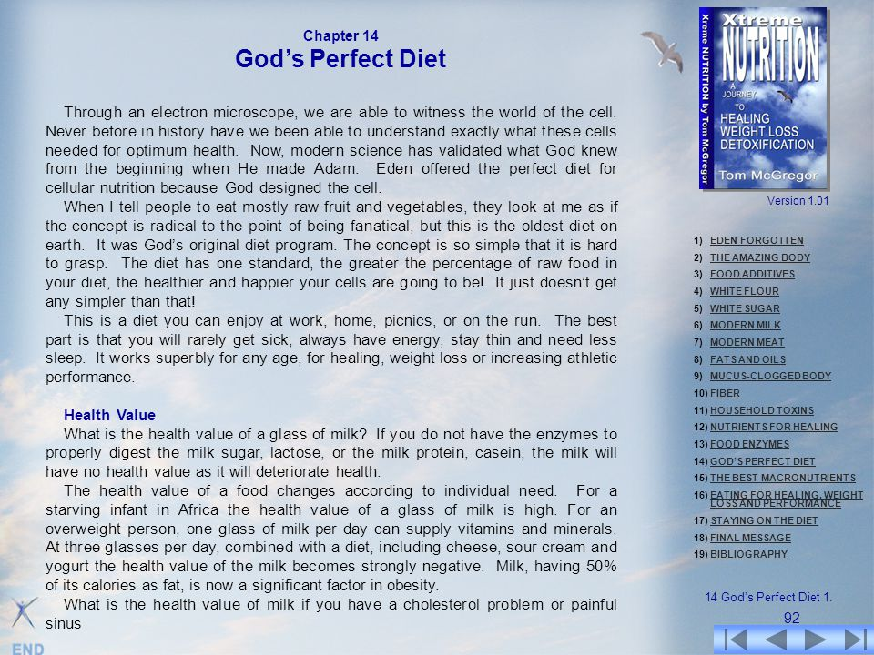 Chapter 14 God's Perfect Diet.