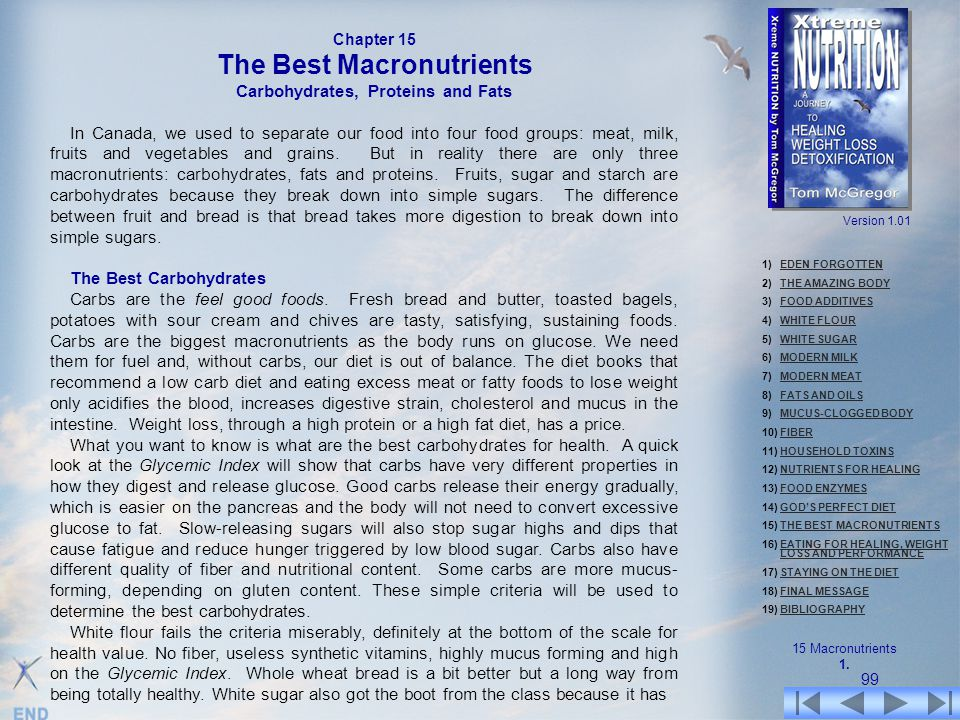 The Best Macronutrients Carbohydrates, Proteins and Fats