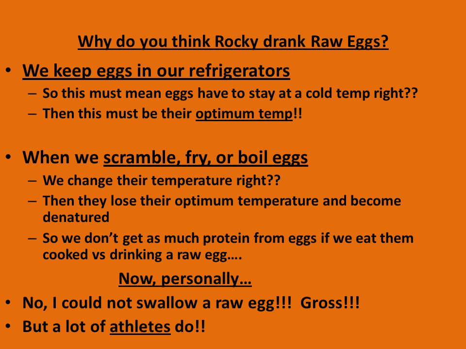 Why do you think Rocky drank Raw Eggs