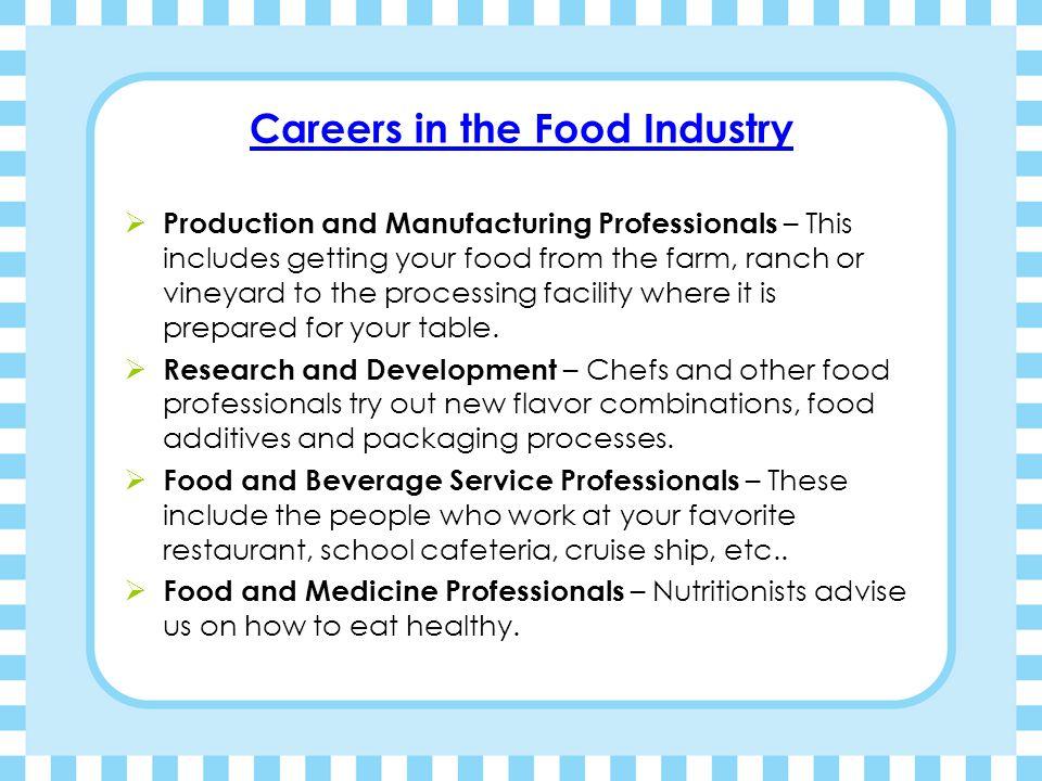 Careers in the Food Industry