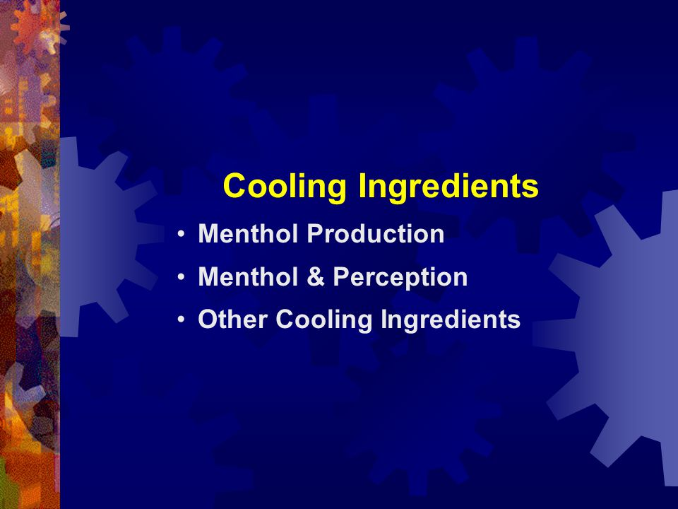 Cooling Ingredients Menthol Production Menthol & Perception