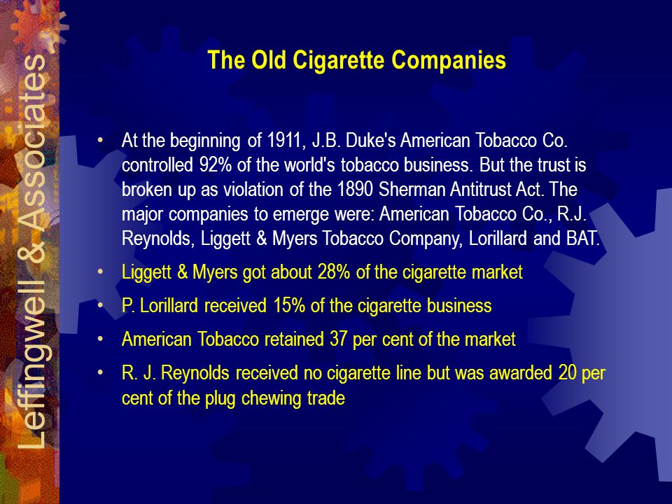 The Old Cigarette Companies