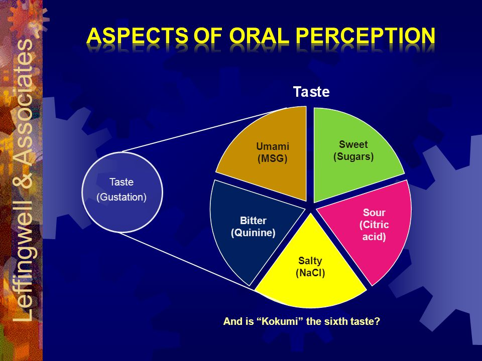 Aspects of Oral Perception And is Kokumi the sixth taste