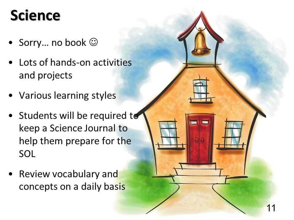 Science Sorry… no book  Lots of hands-on activities and projects
