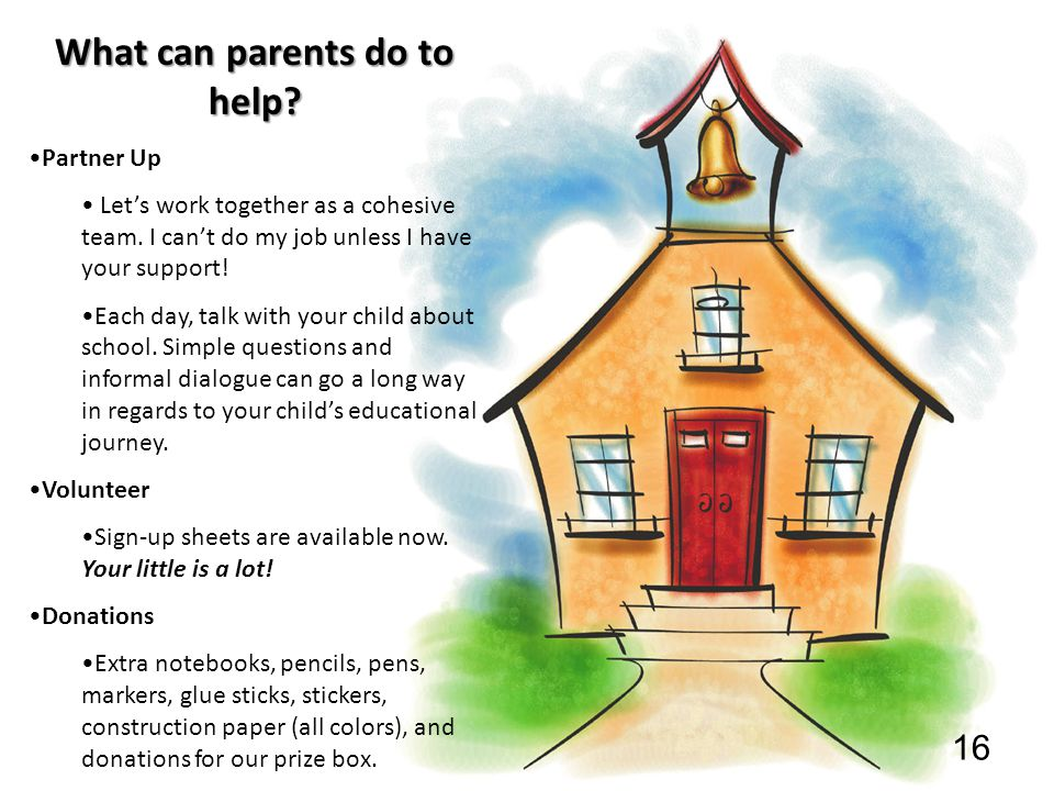 What can parents do to help