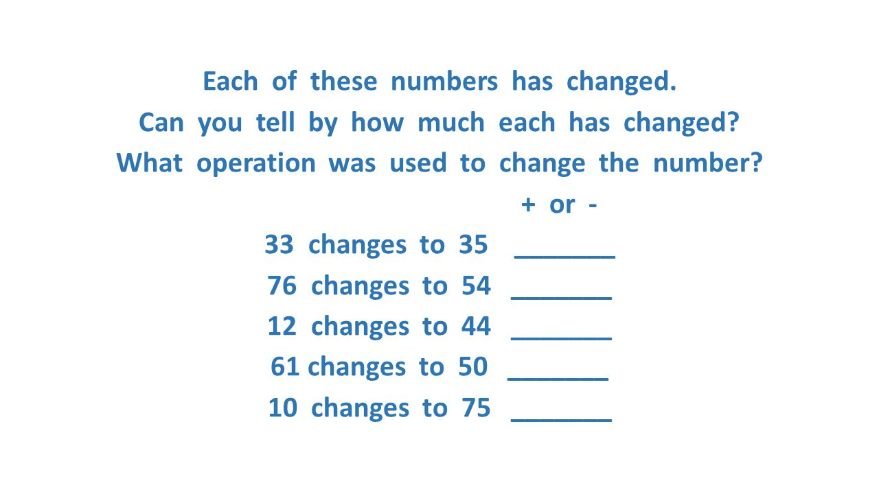 Each of these numbers has changed.