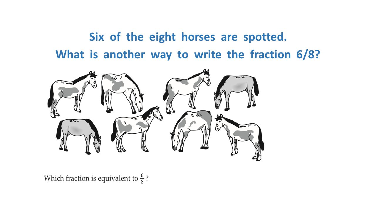 Six of the eight horses are spotted