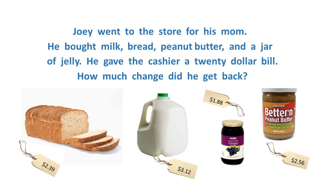 Joey went to the store for his mom