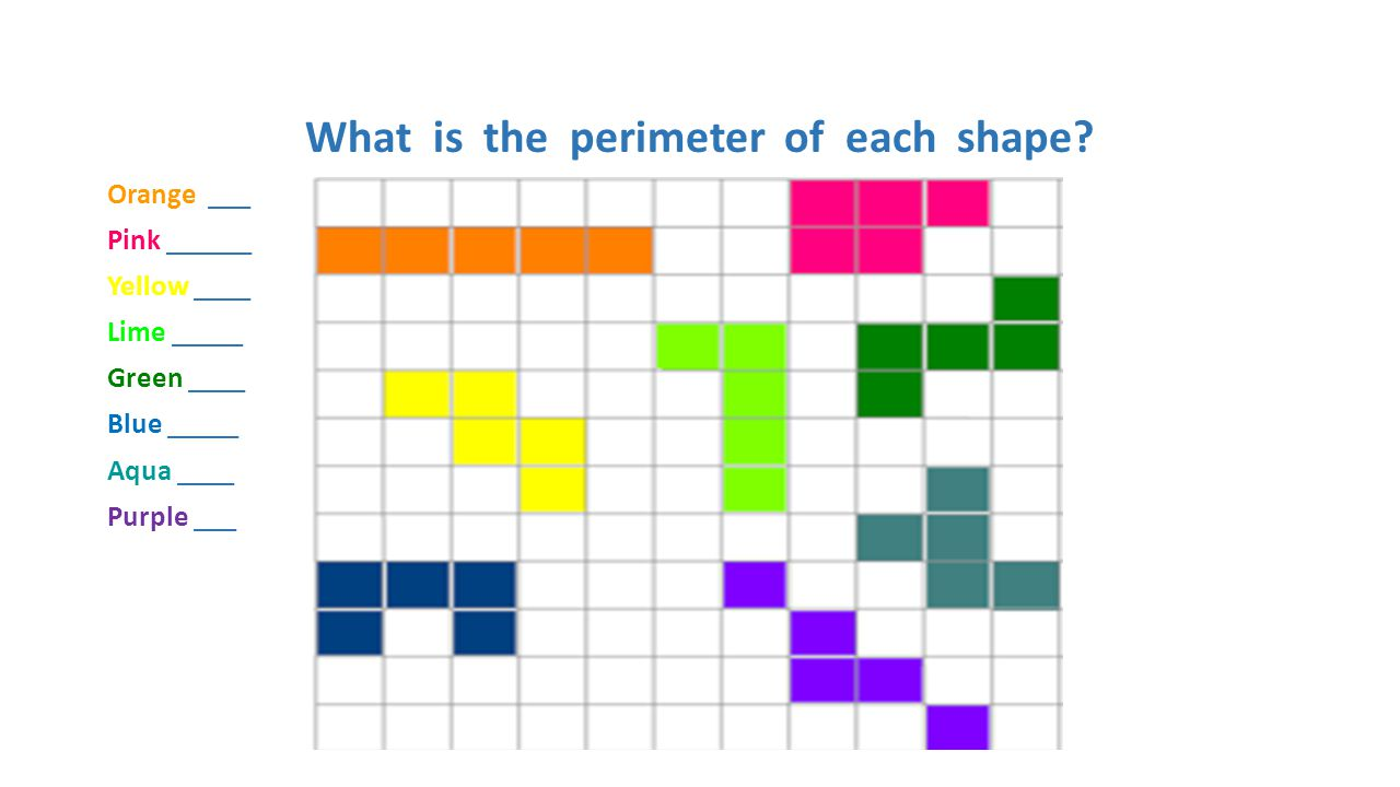 What is the perimeter of each shape