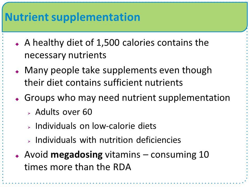 Nutrient supplementation