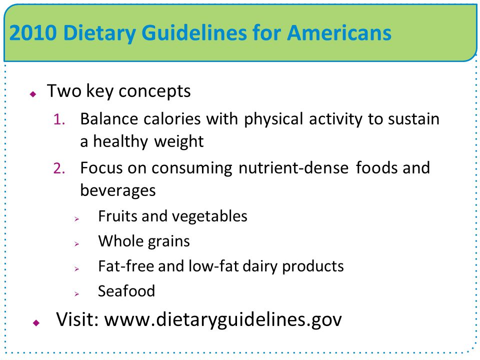 the criticism of the 2010 dietary guidelines for americans Last week, the government released the 2015-2020 dietary guidelines for americans, a set of national nutrition standards that guide public nutrition programs, school lunch menus, food labels, dietitian recommendations, and more.